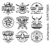 wild west  sheriff department ...   Shutterstock .eps vector #519975805