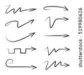 vector scribble arrows  | Shutterstock .eps vector #519980626