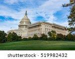 Stock photo daytime landscape us capitol building washington dc grass blue sky 519982432