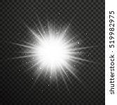 white glowing light burst...   Shutterstock .eps vector #519982975