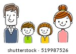 4 people family  parents and 2... | Shutterstock .eps vector #519987526
