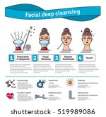 vector illustrated set with... | Shutterstock .eps vector #519989086