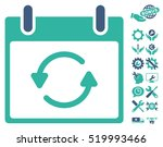 refresh calendar day pictograph ... | Shutterstock .eps vector #519993466