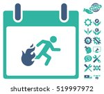 fire evacuation man calendar... | Shutterstock .eps vector #519997972