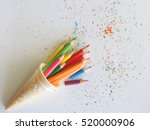 Colorful Of Color Pencils.    ...