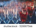 beautiful row line of different ... | Shutterstock . vector #520007566