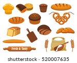 bread isolated icon set with... | Shutterstock .eps vector #520007635