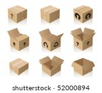 brown paper boxes | Shutterstock .eps vector #52000894