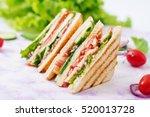 club sandwich with chicken... | Shutterstock . vector #520013728