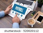 payroll screen concept | Shutterstock . vector #520020112