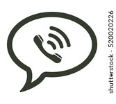 speech bubbles icon... | Shutterstock .eps vector #520020226