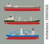 cargo ships. oil tanker  bulk...