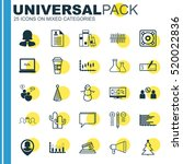set of 25 universal editable... | Shutterstock .eps vector #520022836
