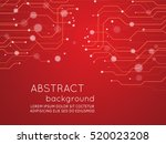 abstract technology circuit... | Shutterstock .eps vector #520023208