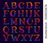 alphabet logos in elegant... | Shutterstock .eps vector #520023676