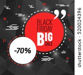 abstract vector black friday... | Shutterstock .eps vector #520024396