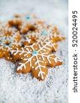gingerbread cookies  | Shutterstock . vector #520024495