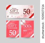 gift certificate design | Shutterstock .eps vector #520027216