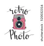 Retro Photo Camera With Stylis...