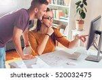 coworking process  team of... | Shutterstock . vector #520032475