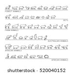 vector line set of silhouettes... | Shutterstock .eps vector #520040152