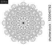 flower mandala. vintage... | Shutterstock .eps vector #520040782