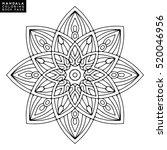 flower mandala. vintage... | Shutterstock .eps vector #520046956