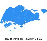 vector map singapore country | Shutterstock .eps vector #520048582