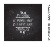 Handdrawn Thanksgiving Label...