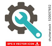 gear and wrench eps vector... | Shutterstock .eps vector #520057852