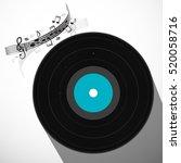 lp vinyl record flat design...   Shutterstock .eps vector #520058716