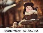 winter portrait of russian... | Shutterstock . vector #520059655
