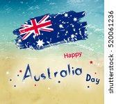 Australia Day With Grange Flag...