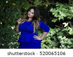 young beautiful plus size model ... | Shutterstock . vector #520065106