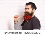 handsome bearded man with... | Shutterstock . vector #520066372