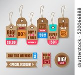 set of retail sale tags design... | Shutterstock .eps vector #520066888