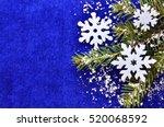 christmas decoration.white... | Shutterstock . vector #520068592
