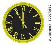 clock face | Shutterstock .eps vector #520070992