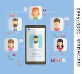 social networking concept.... | Shutterstock .eps vector #520079662