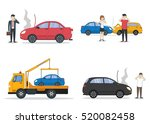 car crash set. different... | Shutterstock .eps vector #520082458