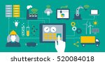 industry 4.0  automation ... | Shutterstock .eps vector #520084018