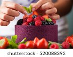 chef decorate the cake wild... | Shutterstock . vector #520088392