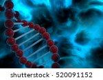 dna strand spiral over nebula... | Shutterstock . vector #520091152