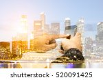 business communications... | Shutterstock . vector #520091425