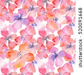watercolor floral background...   Shutterstock . vector #520091668