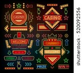 retro casino icons  pointers ... | Shutterstock .eps vector #520092556