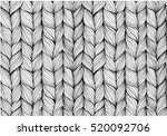 knitting braids seamless... | Shutterstock .eps vector #520092706
