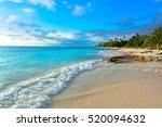 fantastic tropical panorama ... | Shutterstock . vector #520094632