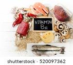 sources of vitamin b12 ... | Shutterstock . vector #520097362