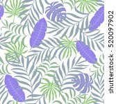 seamless pattern with hand... | Shutterstock .eps vector #520097902